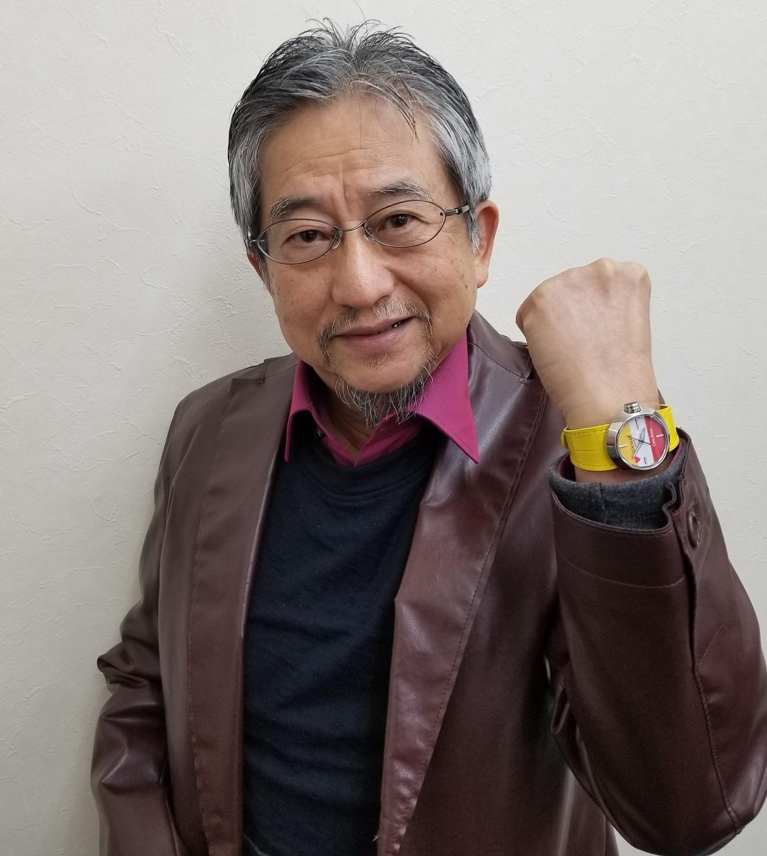 永井豪氏(腕にはめているのはキューティーハニーコラボ時計)