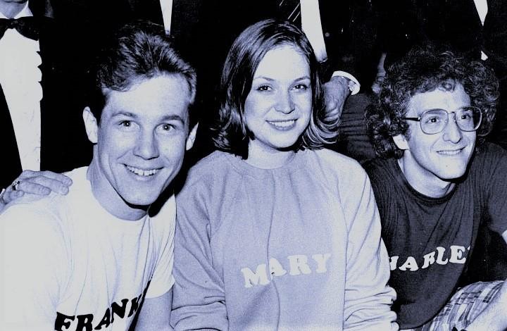 『メリリー』初演の、左からジム・ウォルトン(フランク)、アン・モリソン(メアリー)、ロニー・プライス(チャーリー) Photo Courtesy of Jim Walton