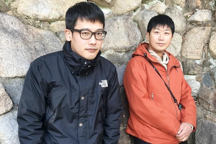 (左から)ピンク地底人3号(ピンク地底人/ももちの世界)、山本正典(コトリ会議)。