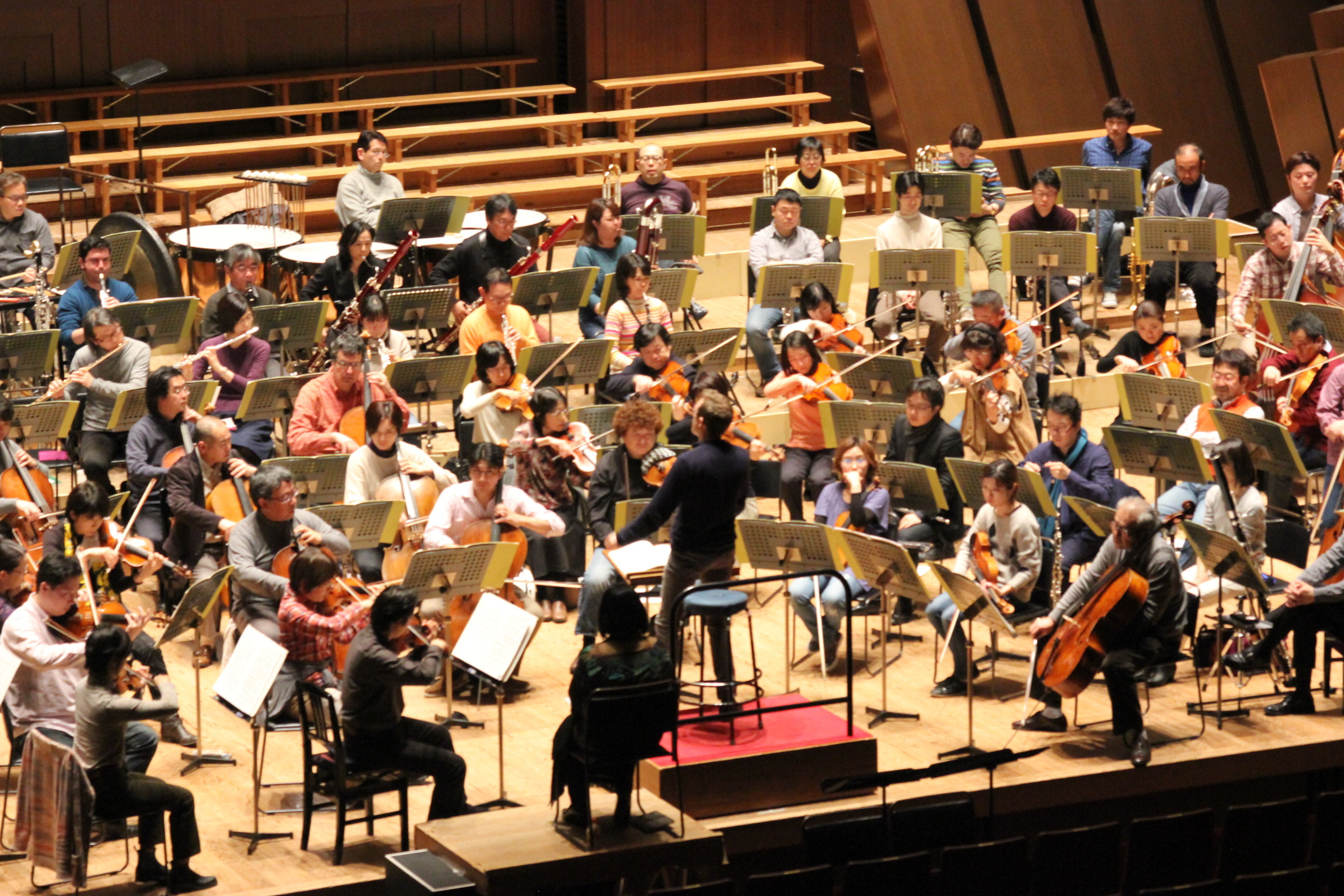 1月12日リハーサルの模様(新日本フィルハーモニー交響楽団 提供)