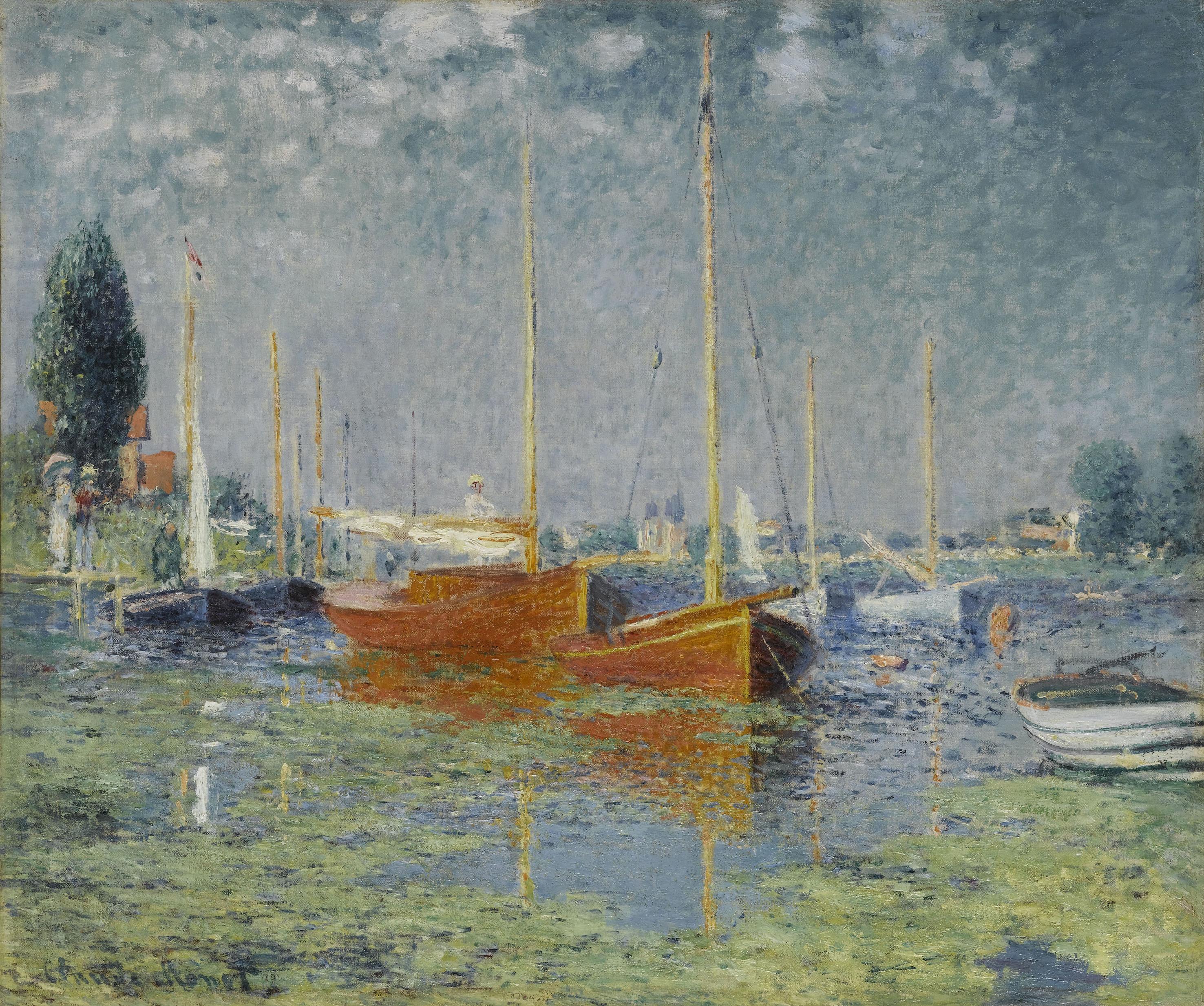 クロード・モネ《アルジャントゥイユ》1875年、油彩・カンヴァス、56×67cm、オランジュリー美術館