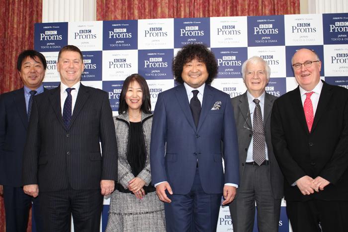 左より、東出隆幸、ポール・マデン、竹内由紀子、葉加瀬太郎、ジャスパー・パロット、アラン・デイヴィー