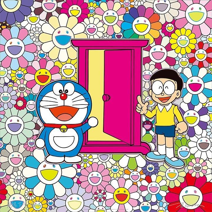 村上隆「あんなこといいな 出来たらいいな」(部分)  (C)2017 Takashi Murakami/Kaikai Kiki Co.,Ltd. All Rights Reserved. (C)Fujiko-Pro