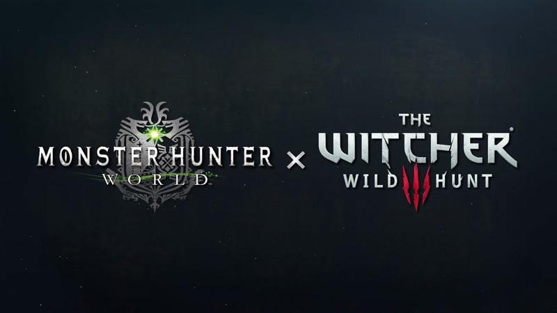 『モンスターハンター:ワールド』と『ウィッチャー3 ワイルドハント』スペシャルコラボレーションロゴ