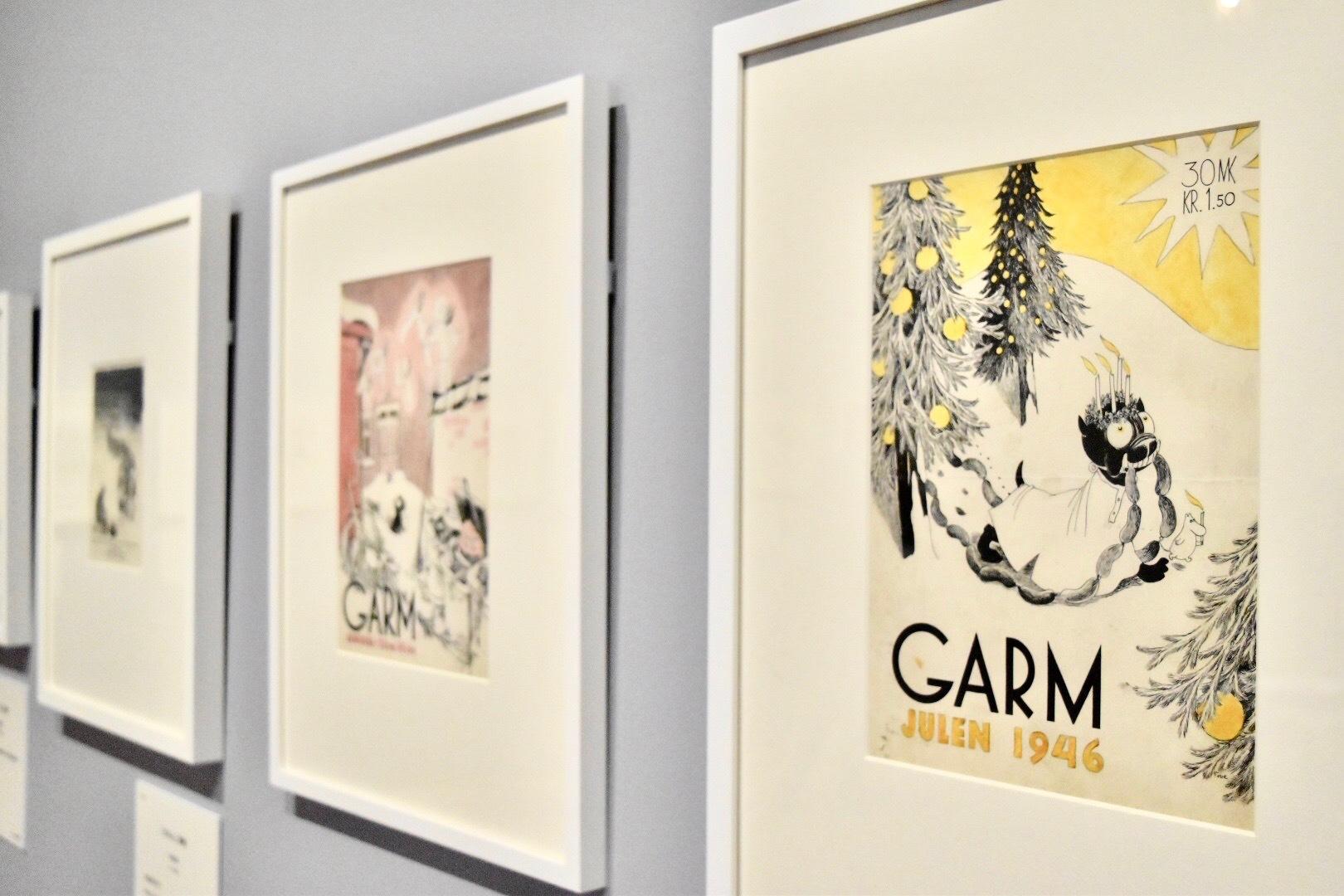 右:「ガルム」1946年クリスマス号表紙 1946年 ムーミン美術館