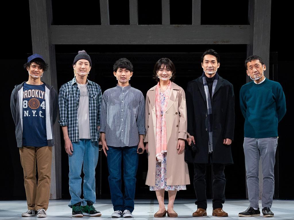 (左から)遠山晶司、天野一輝 、野田裕貴、原田樹里、阿部丈二、成井豊