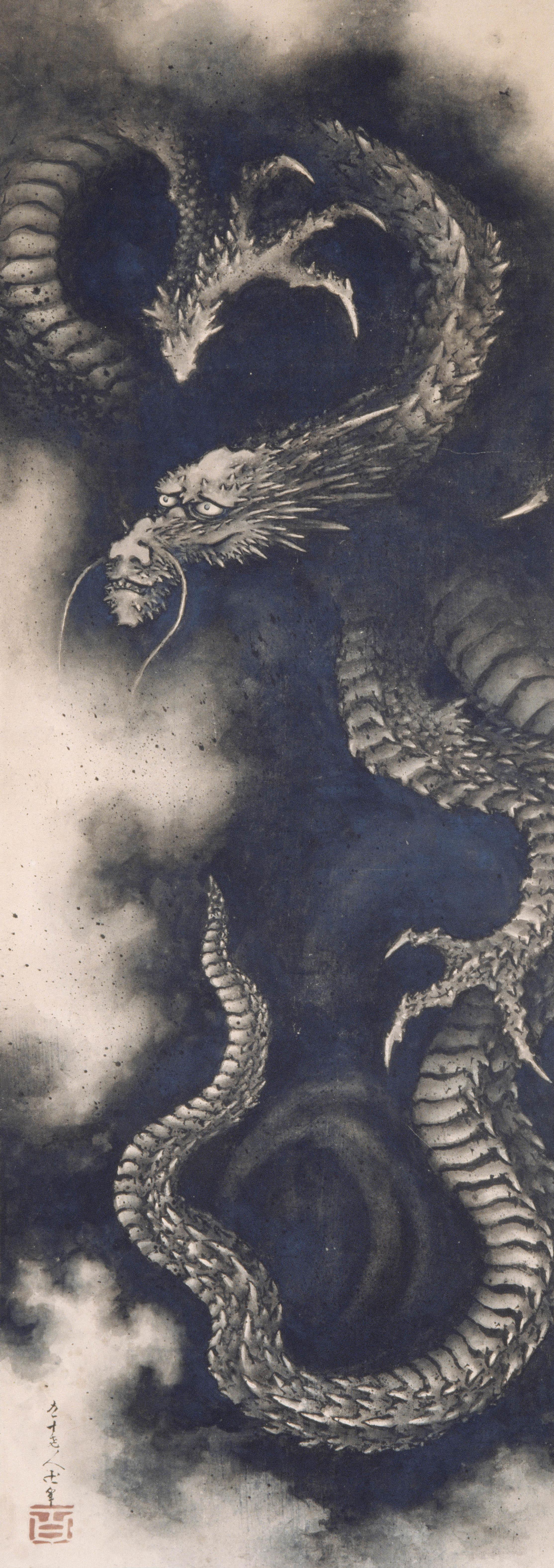 《雲龍図》紙本一幅 嘉永2年(1849) ギメ美術館  Photo (C)MNAAG, Paris, Dist. RMN-Grand Palais / Thierry Ollivier / distributed by AMF   展示期間1月30日(水)~3月4日(月)