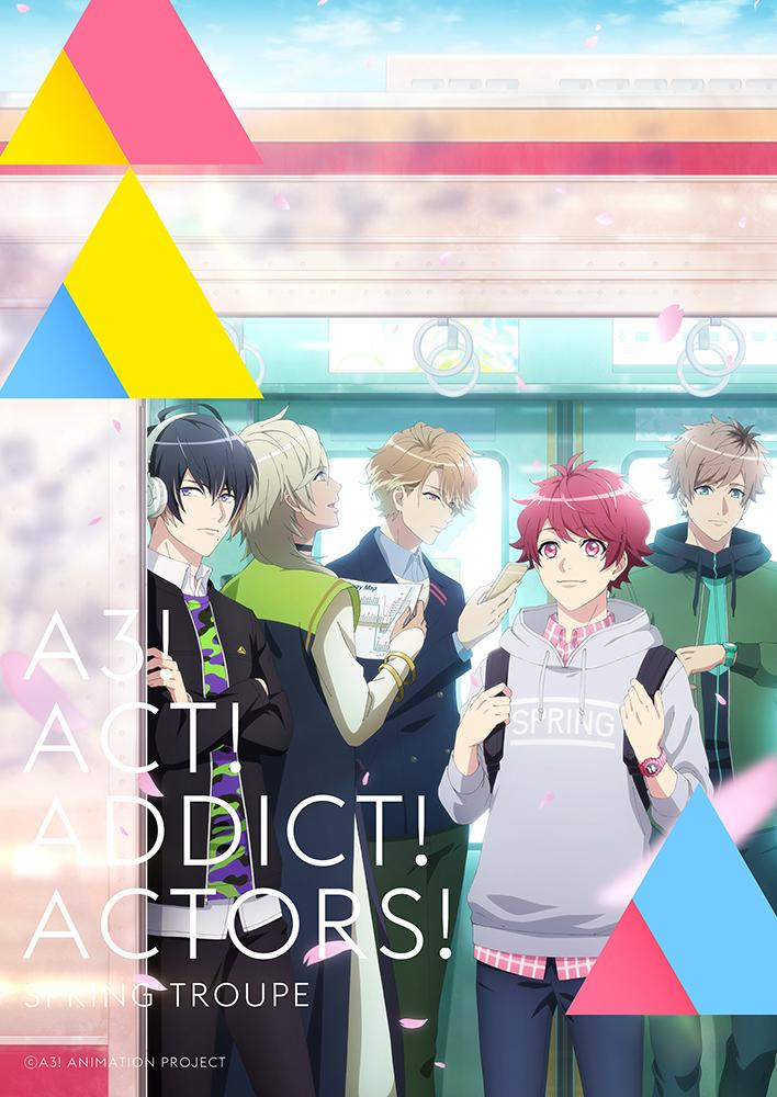 TVアニメ『A3!』PV~SEASON SPRINGキービジュアル (c)A3! ANIMATION PROJECT