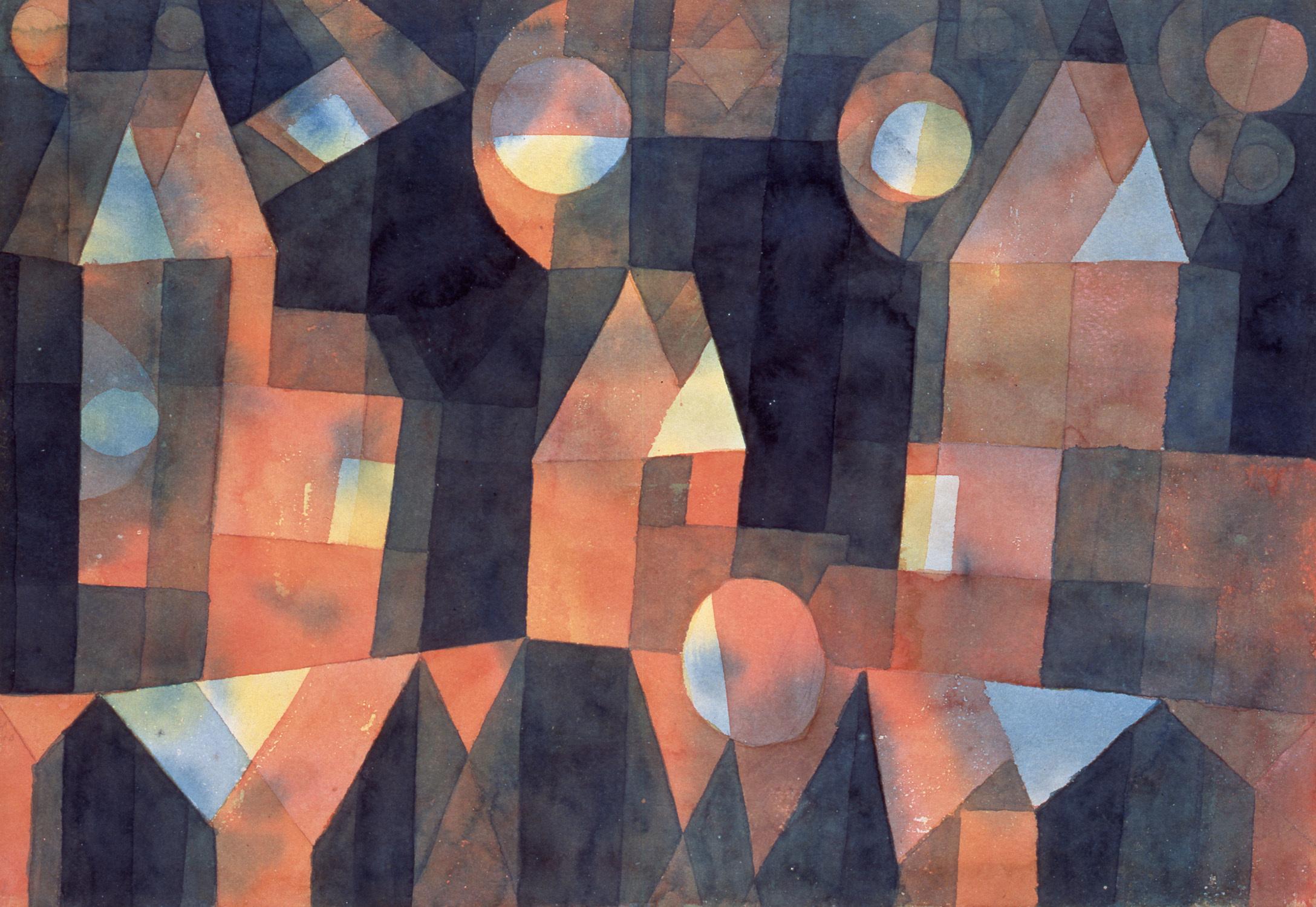 パウル・クレー《橋の傍らの三軒の家》1922年 宮城県美術館蔵