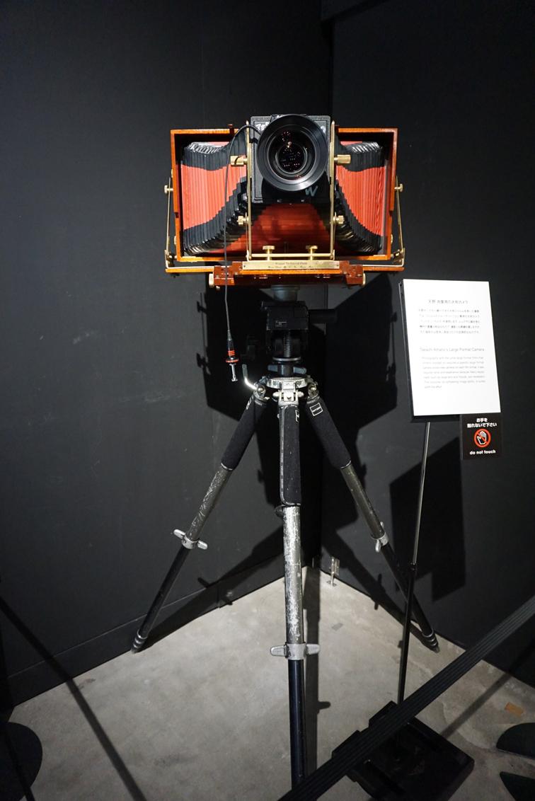 天野氏が実際に使用していた大型カメラ