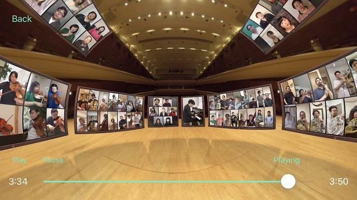 「音のVR」ステージ背面(客席側)