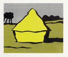 ロイ・リキテンスタイン「Haystack」1969 年 スクリーンプリント ED.250 サイン有