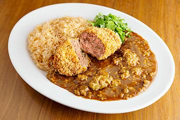 ひき肉少年「黒毛和牛メンチカツひき肉ライス」(1,500円)