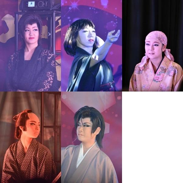 5人のお弟子さんたち。正大座長いわく「みんな頑張り屋です。唯一困るのが、全員天然なこと(笑)」上段左から、舞咲花奈(まいさき・はな)さん、舞咲早耶香(さやか)さん、舞咲那奈(なな)さん。下段左から舞咲愛都(まなと)さん、舞咲碧士(あおし)さん