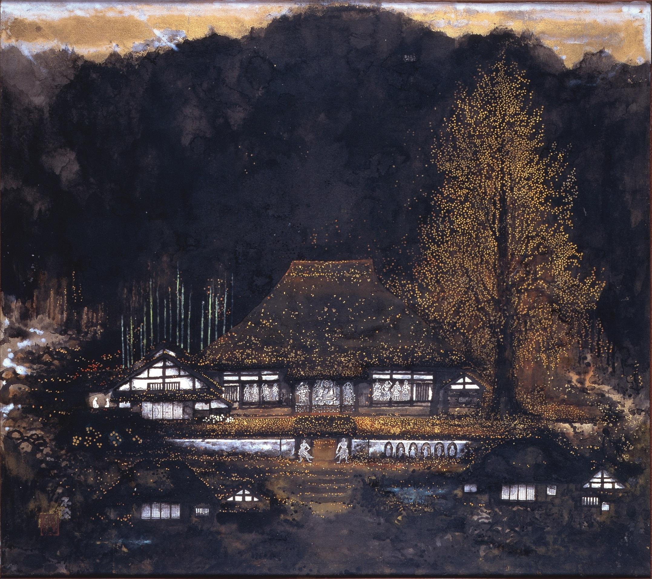 《落葉浄土》昭和49(1974)年頃 奈良県立美術館蔵