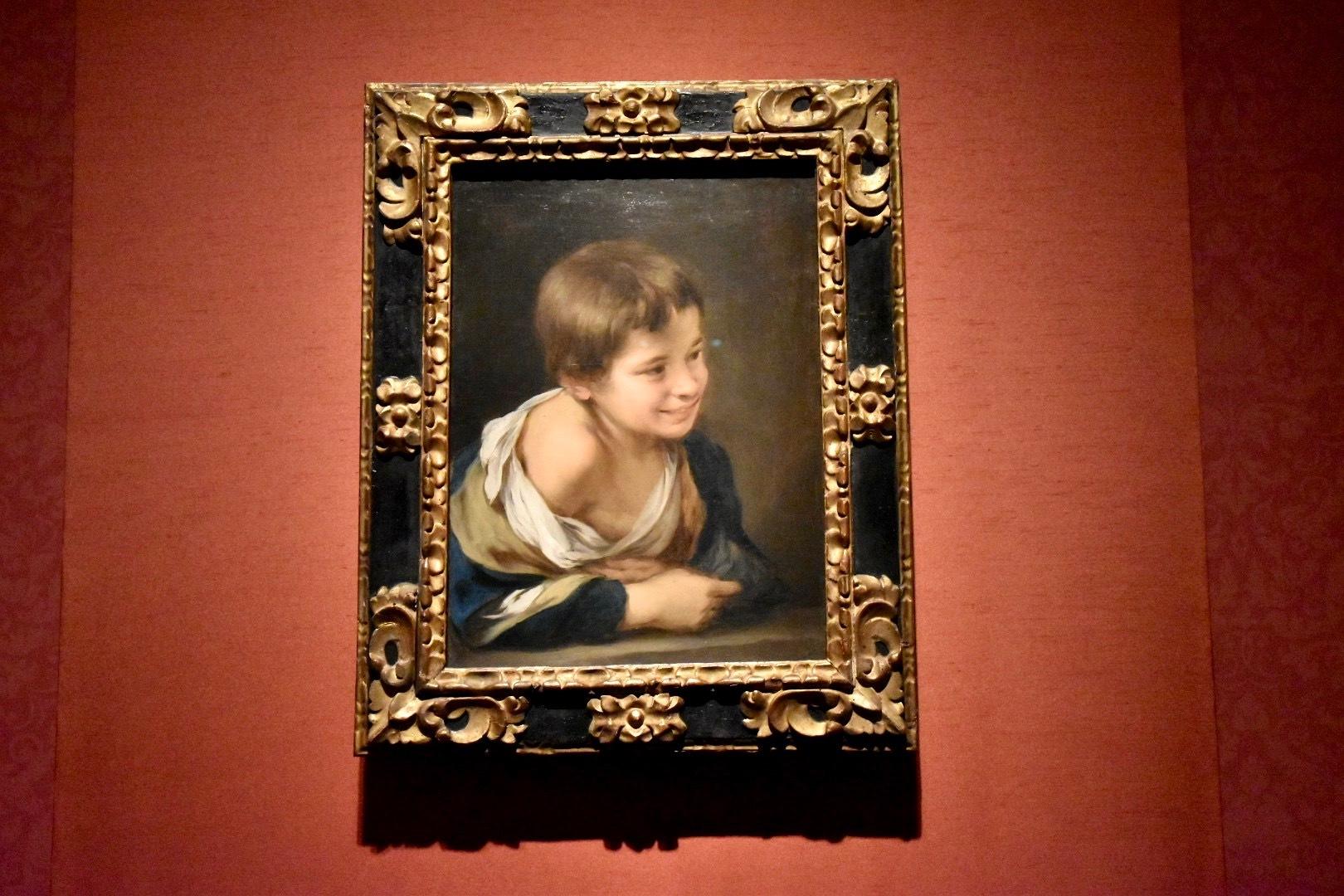 バルトロメ・エステバン・ムリーリョ《窓枠に身を乗り出した農民の少年》1675-80年頃
