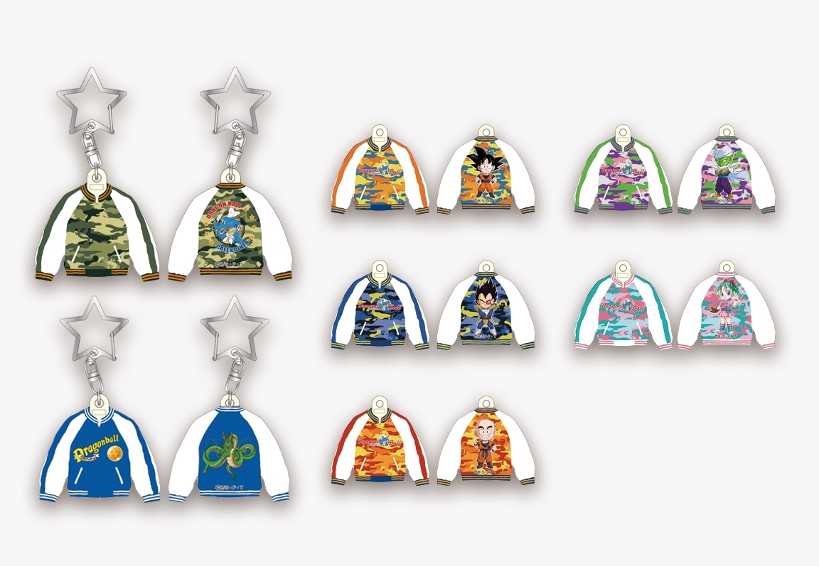 オリジナル スカジャンマスコット  800円(税別)  7種類の展開※カフェ神龍迷彩柄は描き下ろし