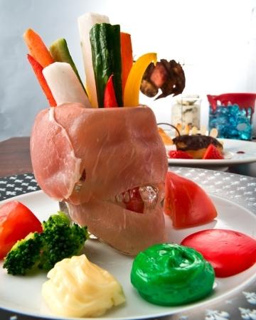 試食メニュー:レザーフェイス風野菜のディップ