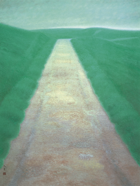 《道》1950年、東山魁夷、東京国立近代美術館蔵