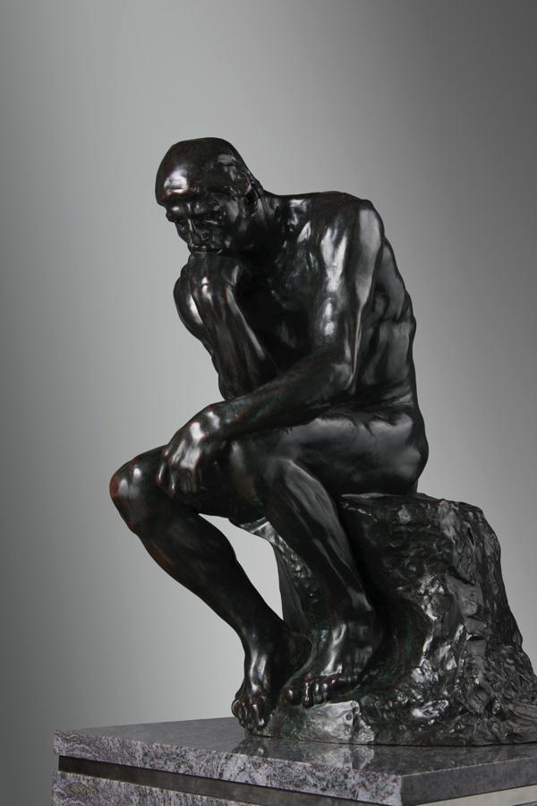 オーギュスト・ロダン《考える人》 1881-82年 ブロンズ 国立西洋美術館(松方コレクション)撮影:上野則宏