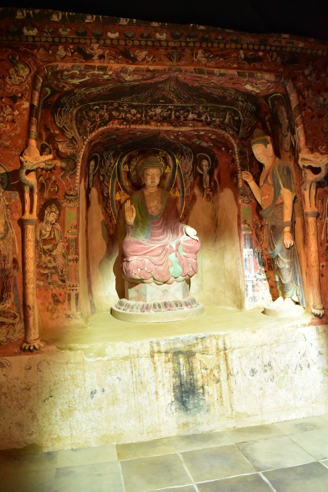 クローン文化財 敦煌莫高窟 第57窟(部分)7世紀前半 自然光を再現した照明
