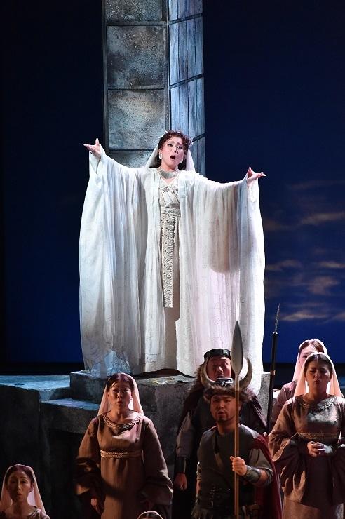 高評価を得たベッリーニ歌劇「ノルマ」での歌唱(2015.9.19 川西みつなかホール) (C)みつなかオペラ実行委員会