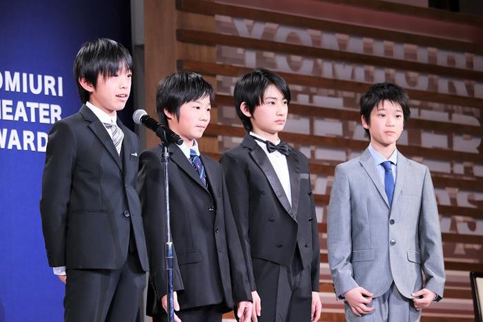 (左から)加藤航世、木村咲哉、前田晴翔、山城力