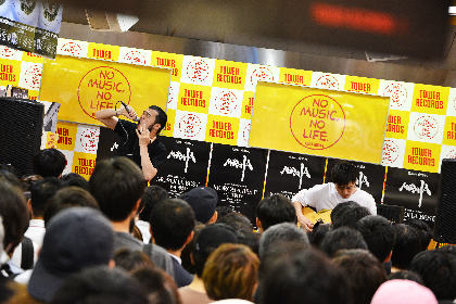 MOROHA タワーレコード新宿店インストアライブ ー奮い立つCDショップにて革命起こす幕開けの夜ー