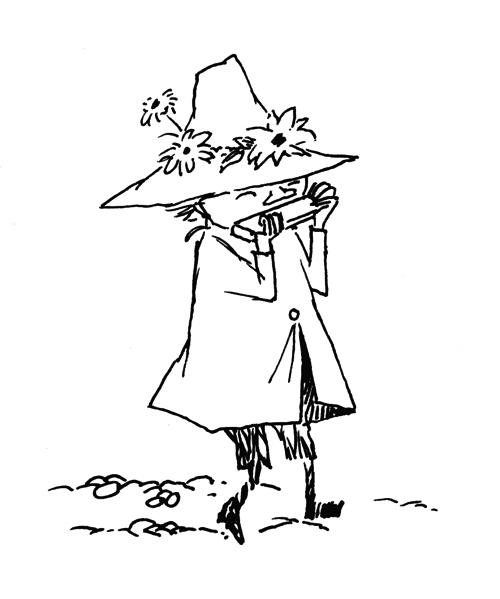 トーベ・ヤンソン≪スナフキン スケッチ≫制作年不詳 インク・紙 ムーミンキャラクターズ社 (C)Moomin Characters TM