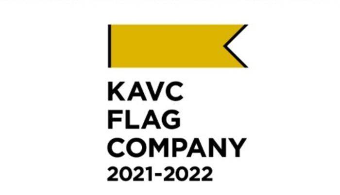「KAVC FLAG COMPANY 2021-2022」ロゴ。