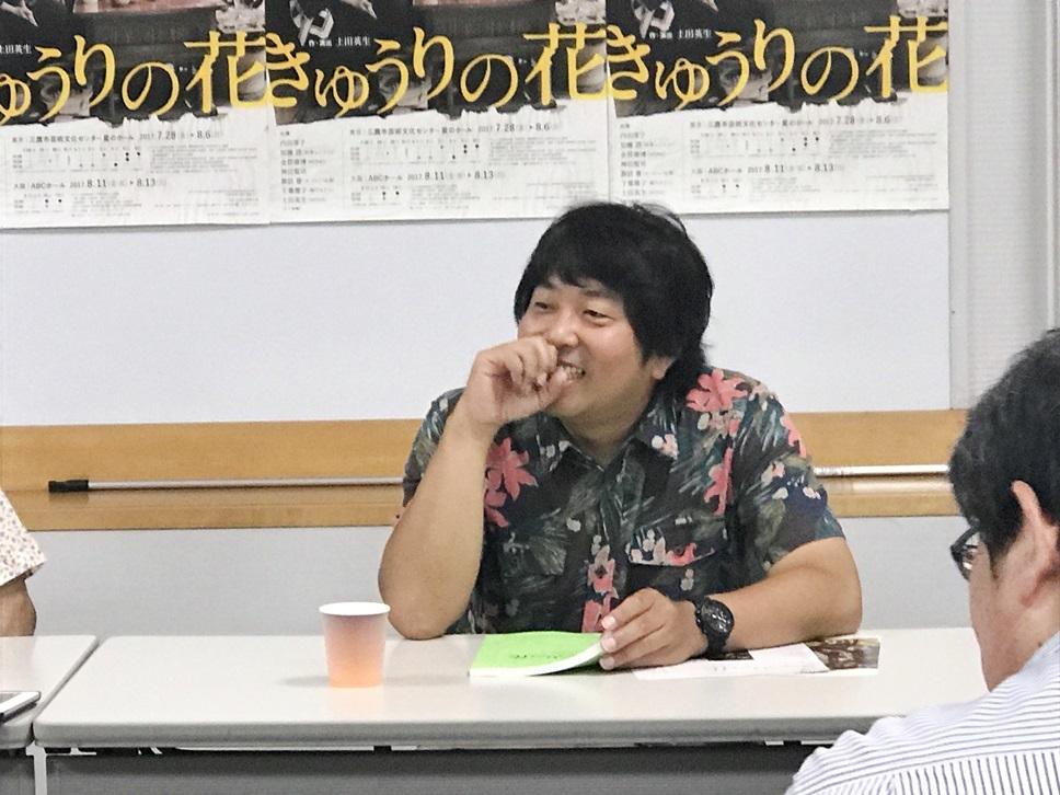 今年に入って何と30kgのダイエットに成功した諏訪雅。土田作品は、MONO『少しはみ出て殴られた』(2012年)以来の出演。 [撮影]吉永美和子