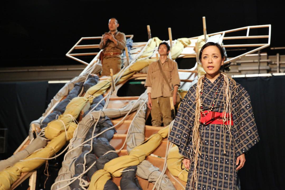 「木の上の軍隊」稽古場の様子 写真提供:こまつ座