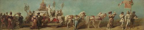 ハンス・マカルト 《1879年の祝賀パレードのためのデザイン画――菓子製造組合》 1879年 油彩/カンヴァス ウィーン・ミュージアム蔵 (C)Wien Museum / Foto Peter Kainz