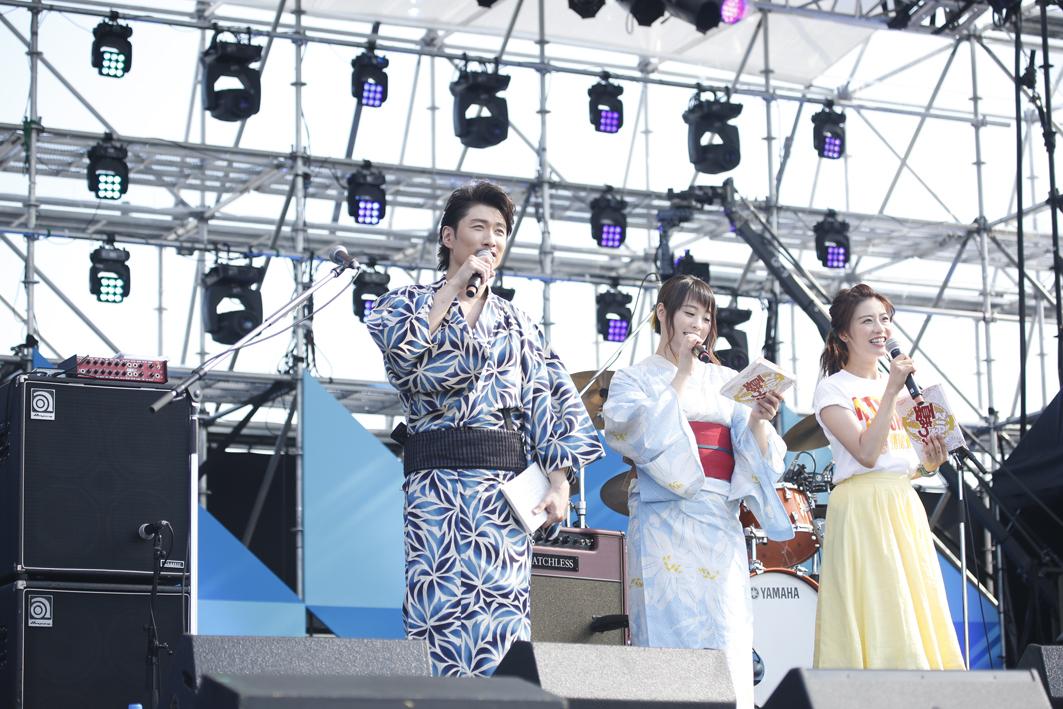 MAKIDAI、北乃きい、郡司恭子(日本テレビアナウンサー) PHOTO:山内洋枝