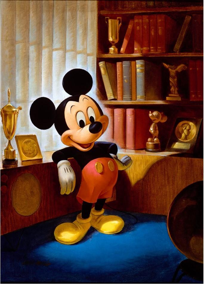 ジョン・ヘンチ画 ミッキーマウスのポートレート(1953 年) (C)Disney