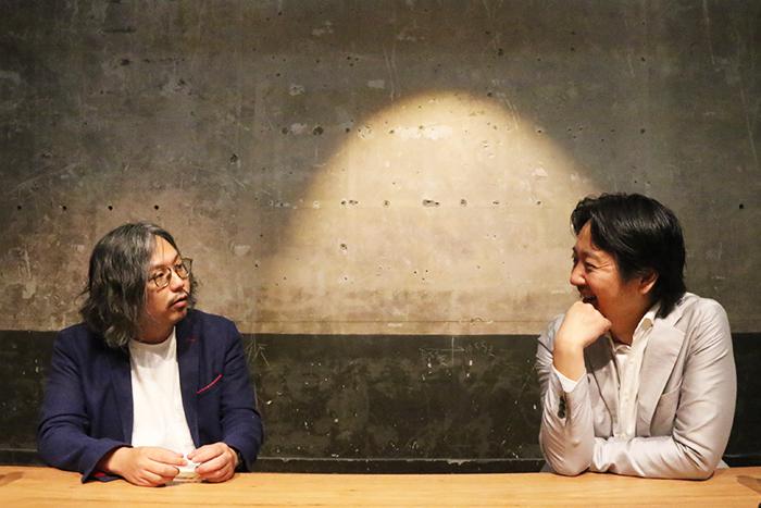 (左から)岩上紘一郎・梶原涼晴  銀座九劇アカデミアにて