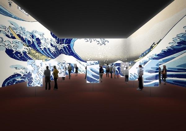 建築家・田根剛氏による展示プラン:デジタル展示 *イメージは構想段階のもので変更になる場合あり
