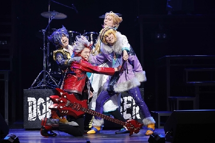 『Live Musical「SHOW BY ROCK!!」-DO 根性北学園編-夜と黒のReflection』天王洲・銀河劇場にて初日開幕 舞台写真&コメント到着