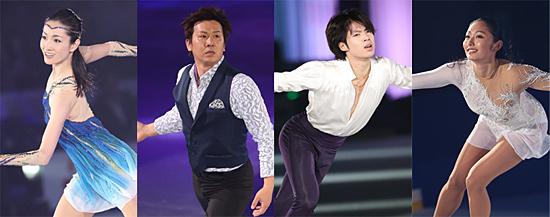 五輪や世界選手権などでメダルを獲得してきた豪華スケーター陣が演技を披露する