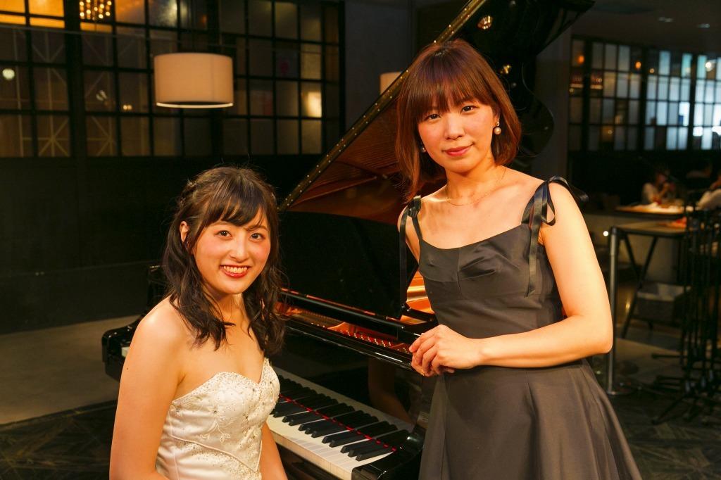 福井あや那(ピアノ)、小寺里奈(ヴァイオリン)