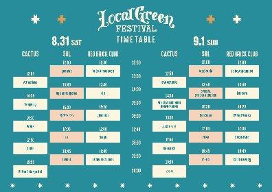 『Local Green Festival'19』タイムテーブルを発表 トリはBJ the Chicago Kid、くるり