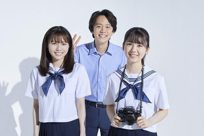 (左から)秋田汐梨、林翔太、筒井あやめ(乃木坂46)