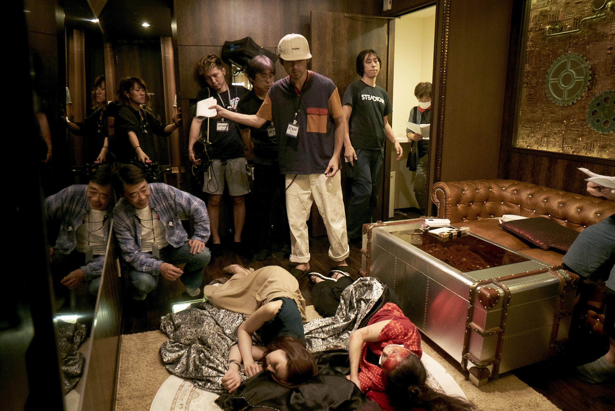 西条みつとし監督「ラブホテル602」撮影風景