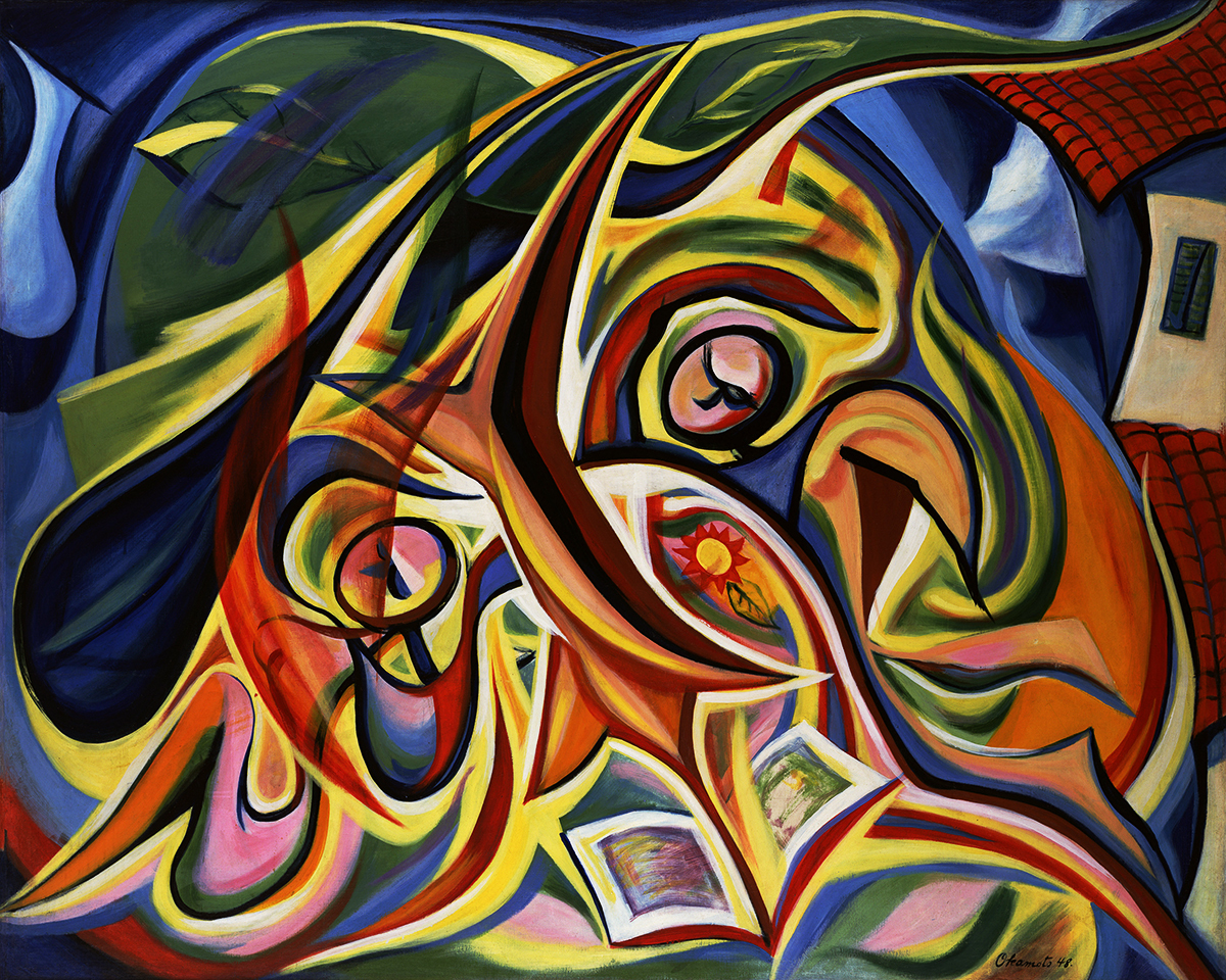 岡本太郎《まひるの顔》1948 年 川崎市岡本太郎美術館 公益財団法人岡本太郎記念現代芸術振興財団