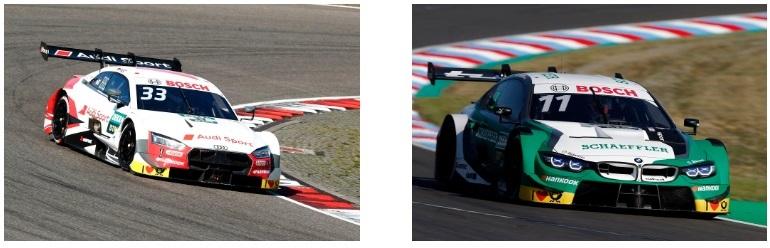 『DTM』から参戦予定の「Audi RS5 DTM」(左)、「BMW M4 DTM」(右)