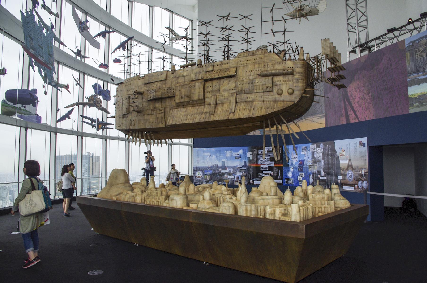 『天空の城ラピュタ』に出てくる飛行構造物が、上下しながらゆっくり動きます (C)girls Artalk