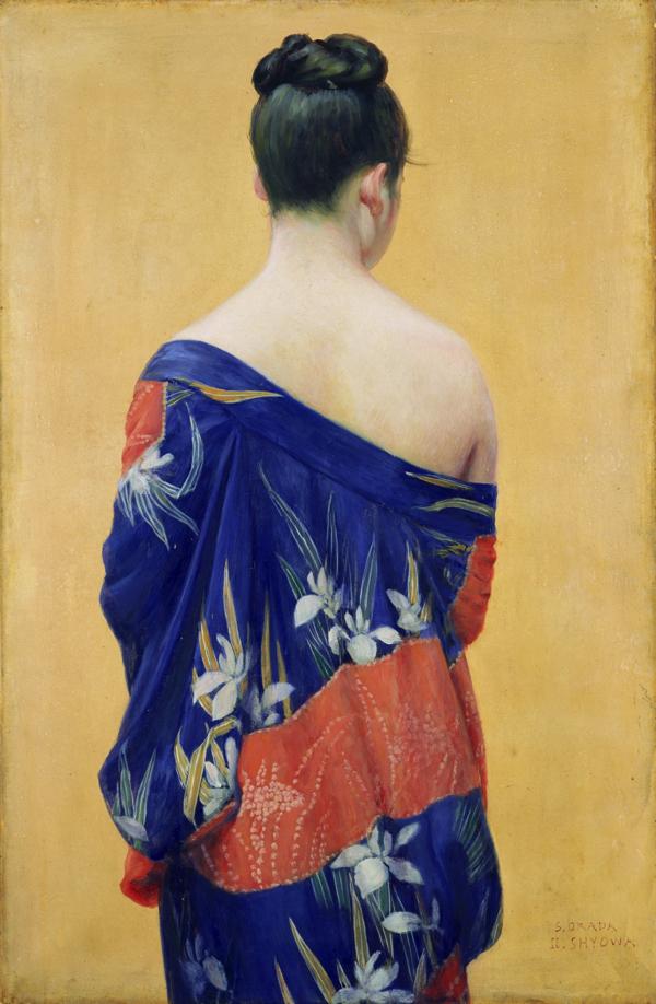 岡田三郎助《あやめの衣》1927(昭和2)年
