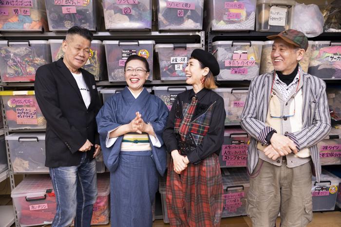 (左から)梅垣義明、柴田理恵、久本雅美、喰始