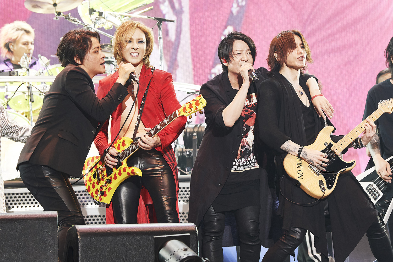 RYUICHI (LUNA SEA)、YOSHIKI (X JAPAN)、TERU (GLAY)、SUGIZO (LUNA SEA)『LUNATIC FEST. 2018』2018.6.24