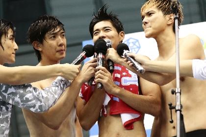BOYS AND MENらが水着姿で肉体美を披露し、ぶつかり合い、そして涙する 『ドキッ! 下剋上 男だらけの水泳大会』が今年も開催